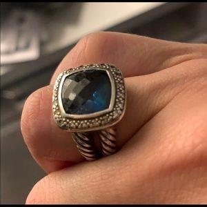 David Yurman Albion Ring - blue topaz